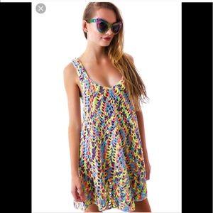 NWOT UNIF Celester Crochet Dress Colorful Cute L